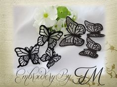 Free Embroidery Design: Mini Butterfly