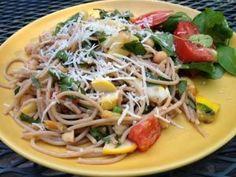 Tom's Kitchen: Summer Veggie Pasta With Chickpeas and Walnuts
