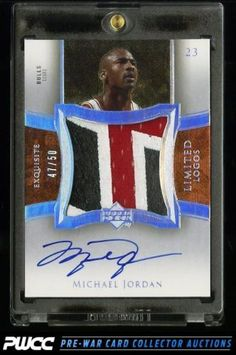 2004 Exquisite Collection Limit Logos Michael Jordan AUTO 3-CLR PATCH /50 (PWCC) in Sports Mem, Cards & Fan Shop, Cards, Basketball | eBay