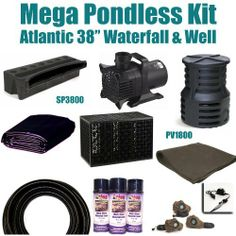 "15 x 40 Mega Pondless Waterfall Kit 8,000 GPH Hybrid Mag Drive Pump Atlantic 38"" Waterfall & Atlantic Pump Vault & Pump Vault Extension PMA5 by Patriot. $1500.00. 15 x 40 EPDM LifeGuard Liner (lifetime warranty-25 Years) and 600 Square Feet of Underlayment, Atlantic 38"" Waterfall SP3800 & Atlantic PV1800 Pump Vault And Pump Vault Extension Max Flow Rate 14,000GPH & 8,000GPH Pump Anjon Monsoon Hybrid Drive MS8,000. Liftgate Service is Not Included. Contact Carri..."