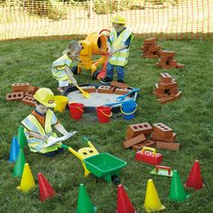 A fantastic collection, perfect for creating a realistic construction site in your role play area. Construction Area Eyfs, Construction Area Early Years, Construction For Kids, Outdoor Play Equipment, Outdoor Play Areas, British Values, Role Play Areas, Home Education Uk, Games