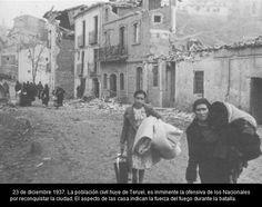 Spain - 1937. - GC - POBLACION HUYENDO DE TERUEL
