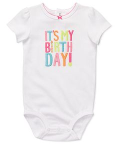 Carters Baby Bodysuit, Baby Girls Birthday Bodysuit - Kids - Macy's