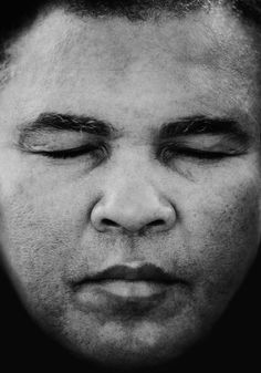 Muhammad Ali.  At peace with himself.