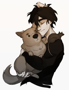 Does Nico di Angelo love animals? I think YAAS | art by inntia (ex-nandoo23)
