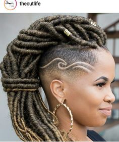Hair cuts popular haircuts shaved sides 30 New ideas Hair cuts popular haircuts shaved sides 30 New Mohawk Styles, Braid Styles, Curly Hair Styles, Natural Hair Styles, Locs Styles, Shaved Side Hairstyles, Dreadlock Hairstyles, Braided Hairstyles, Hairstyles 2018