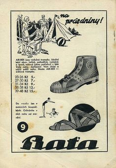 Bata advertisement, Na Prázdniny - On holiday.  c 1936
