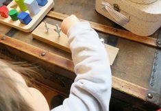Etapes pour apprendre à visser Activité bébé Montessori
