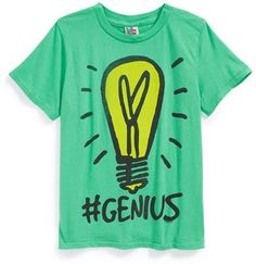 Junk Food '#Genius' Graphic Cotton T-Shirt (Big Boys)