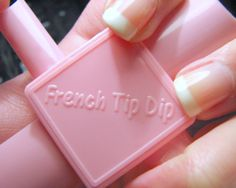 French Tip Dip kit. Best invention ever! Dies the white tip on a French manicure for you!