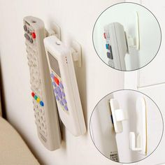 1パッケージ(4ピース)スティッキーフックセットテレビエアコンリモコンキー実用壁収納プラスチックフックホルダー強いハンガー