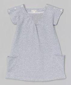 Look at this #zulilyfind! Gray Idol Cap-Sleeve Dress - Infant, Toddler & Girls #zulilyfinds