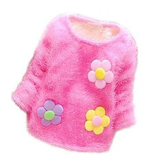 Yanzi6 Infant Baby Girl Flower Cottonpadded Fuzzy Sweater Candy Color 69 Months Rose *** Want additional info? Click on the image. (This is an affiliate link) #BabyGirlSweaters