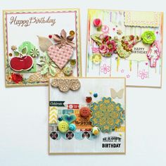 Bits and Pieces  – 3 Birthday Cards!