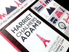 """""""Harriet"""" Stationery Triolet -- perfect for the world traveler."""
