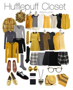 """Hufflepuff"" by disney-stylez ❤ liked on Polyvore featuring MaxMara, Carven, Orla Kiely, Topshop, Repeat, Jacqueline De Yong, Easy USA, WALL, Vero Moda and TWINTIP"