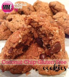 Coconut-Chip Gluten-Free Cookies.  #healthy cookie  #gluten free cookie  #gluten free snack