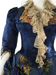 Afternoon dress (image 3) | House of Worth | France | 1883-1884 | satin | MCNY | Reference #: 31.3.5A-B