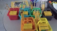 I Am What I Teach: Organizing Supplies - Color coordinating supplies to keep groups organized and responsible