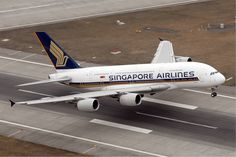 Singapore Airlines Airbus A380.