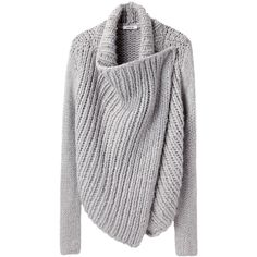 Helmut Lang Shawl Cardigan ($550) ❤ liked on Polyvore