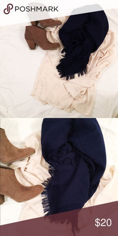 Navy blue scarf This scarf is a wardrobe must have for fall! Great condition besides a snag here or there, but is completely unnoticeable! Accessories Scarves & Wraps