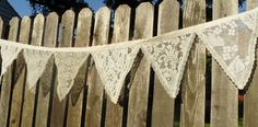 2 White or Ivory  Lace Beach Wedding Fabric by BuntingStore, $75.00