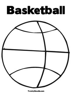 basketball with tracing font coloring page that you can customize and print for kids