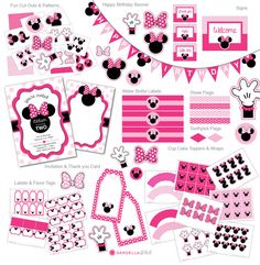 Minnie Mouse Party Package Minnie Mouse invitation by DellaGlobal Frozen Birthday Party, Mickey Mouse Birthday, Minnie Mouse Party, 2nd Birthday Parties, Frozen Invitations, Princess Invitations, Disney Frozen Party, Minnie Mouse Roja, Minnie Mouse Decorations