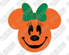Minnie Mouse Pumpkin Halloween Cut File Set in SVG, EPS, DXF, JPEG, and PNG