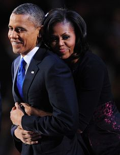 Michelle And Barack Obama Family   ... Barack Obama and his wife Michelle celebrate on stage after Obama