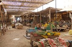 Central market souk of Erfoud Stock Photo