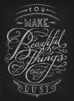 Pretty hand lettering