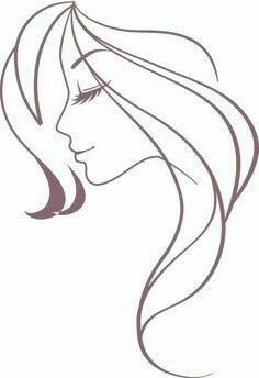 Pin De Cnc Decor Em Mulher Rosto Tracos Silhueta Mulher Desenho