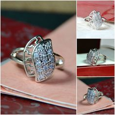 High Quality Rhinestone Rings Item Code: R0067 Size: 17 Price: Rs 350 https://www.facebook.com/messages/JewelryGalaPakistan