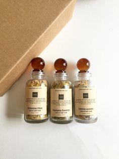 Spa Gift Set  Bath Salts Apothecary Bottles Romantic by KayaSoaps