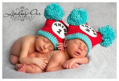 Having a sale Jester Pom Pom Twins Hat Thing 1 and by cherryscan, $24.00