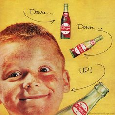 The Big Gulp A collection of vintage soda advertising Pepper Soda Ad 1961 Retro Ads, Vintage Advertisements, Vintage Ads, Vintage Food, Timeline Project, Old Adage, History Timeline, Dr Pepper, Vintage Recipes