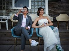 But, above all, these brides know that it isn't about what you're wearing… | 16 Dapper Brides Who Said No To A Dress