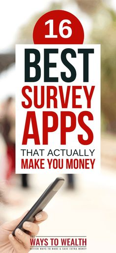 Check out the 16 best survey apps — according to actual iOS and Android user ratings — for making money fast in Get Money Now, Ways To Get Money, Make Easy Money, Earn More Money, Make Money Online, Survey Sites That Pay, Extra Money, Extra Cash, Finance Tips