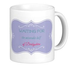 Jane Austen, Mr Darcy, Waiting for the miserable half of Derbyshire, quotes, Istant Download, Printable, janeites, mug, T-shirt, bag, Italy