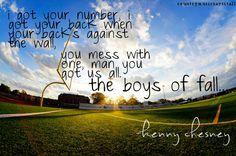 Boys of Fall ~ Kenny Chesney