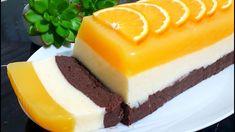 Neobvyklý koláč s pomarančovej šťavy, kakaom a kokosovými vločkami, pripravený podľa youtube, bez pečenia a bez želatíny, z najdostupnejších surovín. Je veľmi jemný, chutný a primerane sladký. Jednoducho sa topí v ústach!Potrebujeme:500 ml pomarančového džúsu … Toffee Bars, Smoothie, Orange Recipes, Pudding Recipes, Tart, Cheesecake, Peach, Desserts, Food