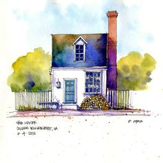 Williamsburg, VA, The Shoe Maker's House by Don Gore (dgdraws), via Flickr