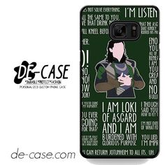Loki Quotes DEAL-6627 Samsung Phonecase Cover For Samsung Galaxy Note 7