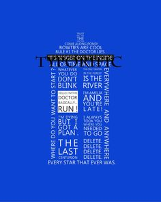 Tardis Dr Who11th Dr Typography - 8x10 - Print