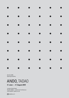 Tadao Ando Opening Exhibition Dot Grid Poster