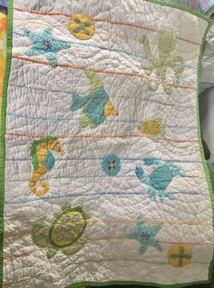 Sea Turtle Crib Quilt Baby Bedding Toddler By Madlywish For Olivia And Addison Pinterest