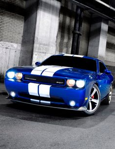 The 'one and only' Dodge Challenger SRT. Is this today's winner of #MusclecarMonday? Judge for yourself here:  www.ebay.com/itm/Dodge-Challenger-SRT8-Coupe-2-Door-SRT8-Deep-Water-Blue-with-White-Stripes-IE-786-/161271594988?forcerrptr=true&hash=item258c893fec&item=161271594988&pt=US_Cars_Trucks?roken2=ta.p3hwzkq71.bdream-cars
