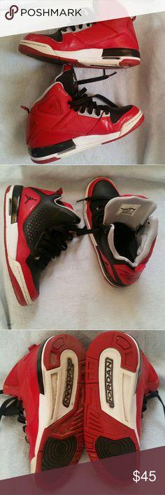 Youth - Nike Air Jordan SC-3 Flight 629942-001 Red Slightly used boys Jordan Flights, they are in good condition. Jordan Shoes Sneakers